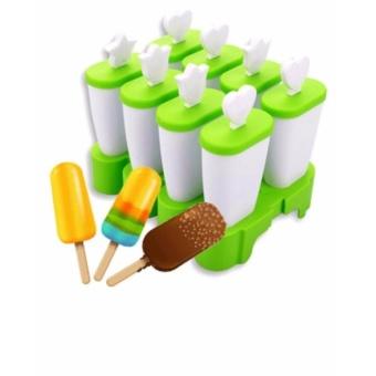 Khuôn Làm Kem Bằng Nhựa 8 Que Tiện Dụng (Xanh cốm)