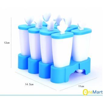 Khuôn Làm Kem Bằng Nhựa 8 Que Tiện Dụng (Xanh Dương)