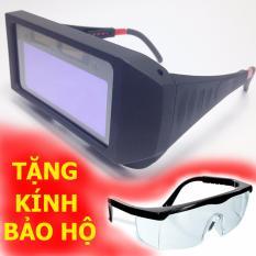 Kính hàn điện tử - kính hàn bảo vệ mắt (Tặng kèm kính đài loan + dây đeo)