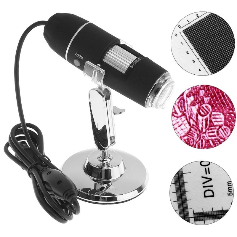 Kính Hiển Vi Kỹ Thuật Số 1600X 2MP USB 8 Đèn LED Điện Tử với Chân Đế Kim Loại – Quốc tế
