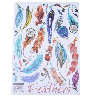 LALANG Removable Stickers Feathers Creative Home Decorative Painting (Multicolor) - intl