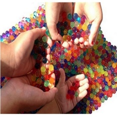 LERORO Water Beads, 3 oz pack (Almost 7,000 !!) Crystal Water Bead Gel [Rainbow Mix] For Kids Tactile Sensory Experience, Orbeez refill, Wedding Centerpiece Vase Filler, Soil, Plant decoration - intl