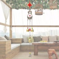 Lucky Fish 6 Bells Ethnic Copper Wind Chimes Outdoor Yard Garden Decor Gift - intl