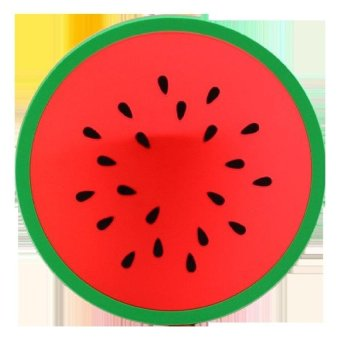 LZ Silicone Cup Pad Novelty Fruit Shape Mat Insulationcoaster(Watermelon) - intl