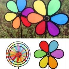 Makiyo Outdoor Yard Garden Decor Rainbow Wind Pinwheel Spinner Windmill Winnower Arovane (2#) - intl