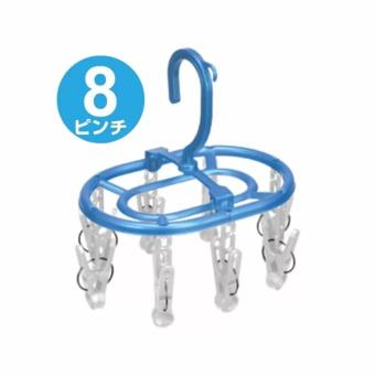 Máng treo quần áo mini có 8 kẹp chữ A