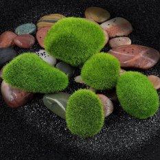 Marimo Moss Ball Artificial Grass Stones Turf Mini Fairy Garden Micro Terrarium Green 3.74inch - intl