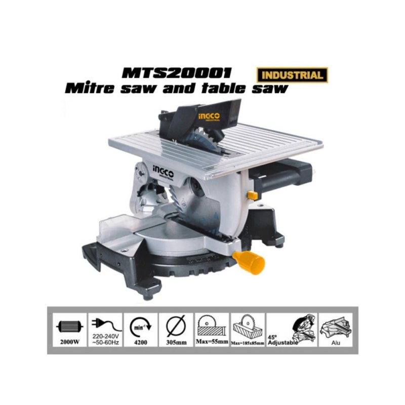 Máy cưa bàn đa năng Ingco (2000W - Ø305mm) - MTS20001