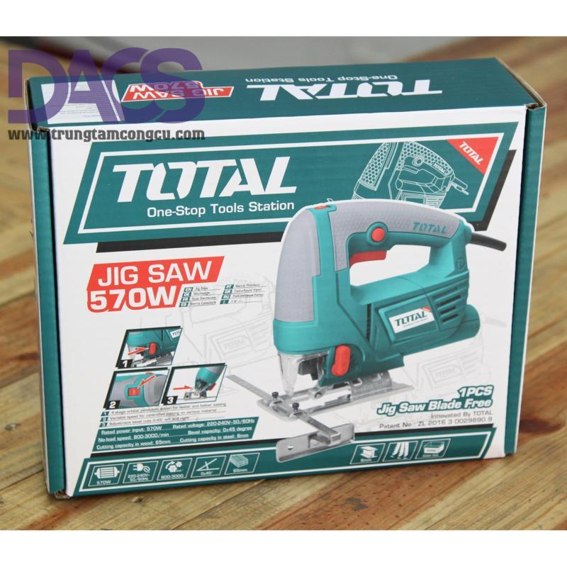 Máy cưa lọng 570W Total TS205656 (Tặng kèm chổi than+1 lưỡi cưa gỗ)