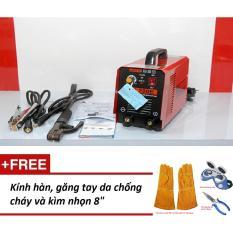 """Máy hàn điện tử sắt và inox Hồng ký HK-200E-PK + găng tay da, kính hàn, kìm nhọn 8"""""""