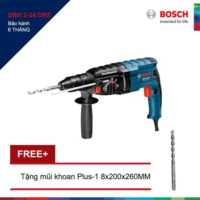 Máy khoan Bosch GBH 2-24 DRE + Tặng 1 Mũi khoan bê tông Plus-1 8x200/260MM