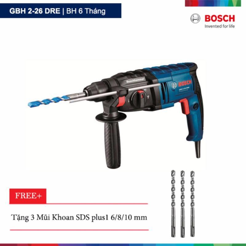 Máy khoan búa Bosch GBH 2-26 DRE Tặng 3 Mũi Khoan SDS plus1 6/8/10 mm