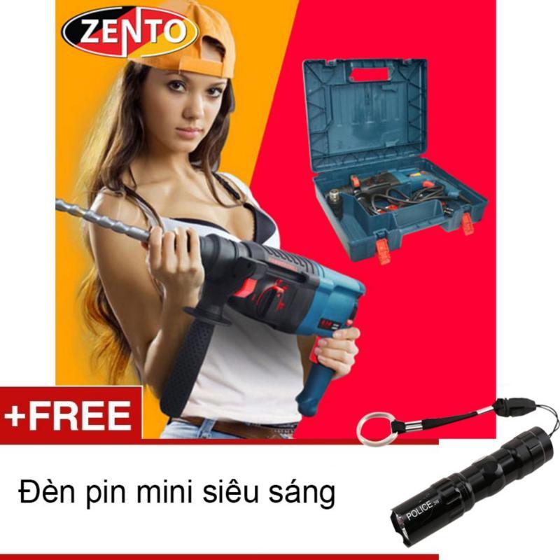 Máy khoan búa cầm tay Hammer Drill Zento 2/26SE (Tặng đèn pin mini Zento)