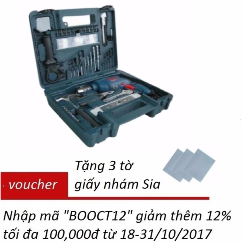 Máy khoan động lực Bosch GSB 16 RE SET và bộ 100 chi tiết