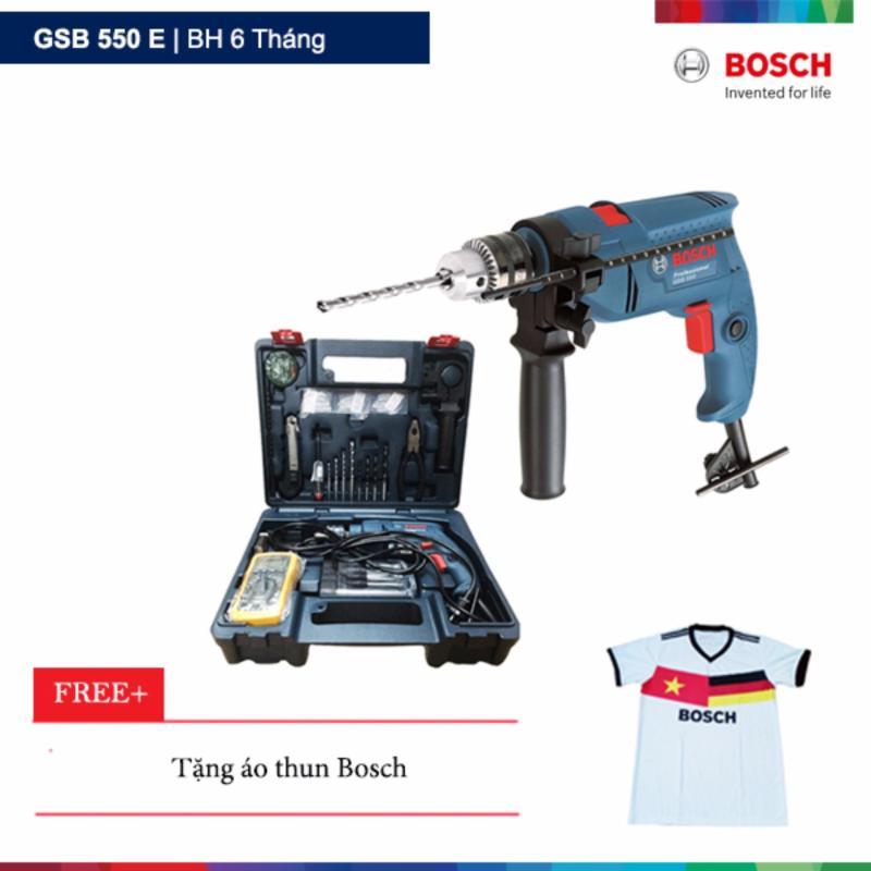 Máy khoan động lực Bosch GSB 550 E Tặng áo thun Bosch