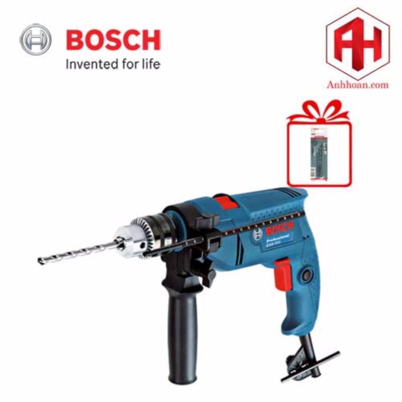 Máy khoan động lực Bosch GSB 550 (Xanh) + 3 mũi khoan tường (5x85, 6x100, 8x120)