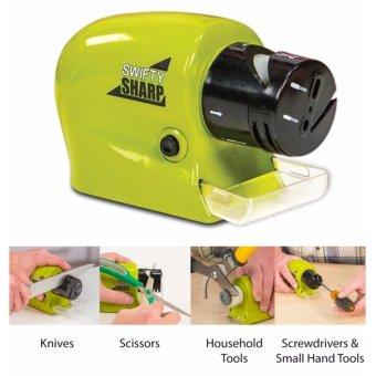 Máy mài dao kéo đa năng dùng pin SS(Xanh) + tặng đầu vòi lọc nước sạch