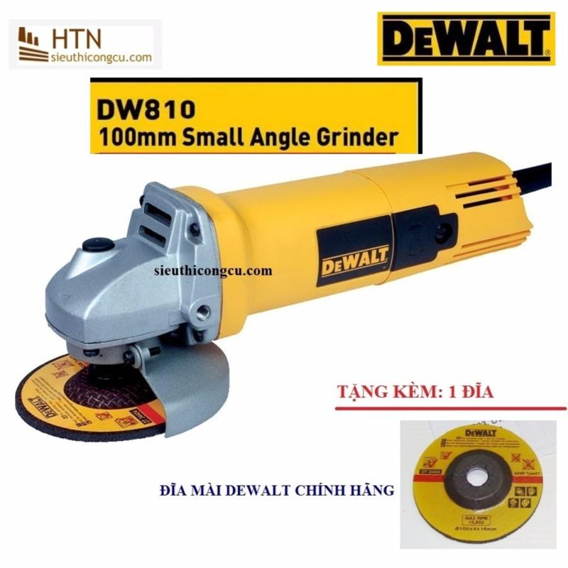 Máy mài góc 100mm-680W Dewalt + TẶNG kèm 1 đĩa mài DW810-B1
