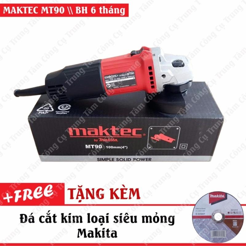Máy mài góc 540W MAKTEC MT90A (Tặng kèm đá cắt siêu mỏng Makita)