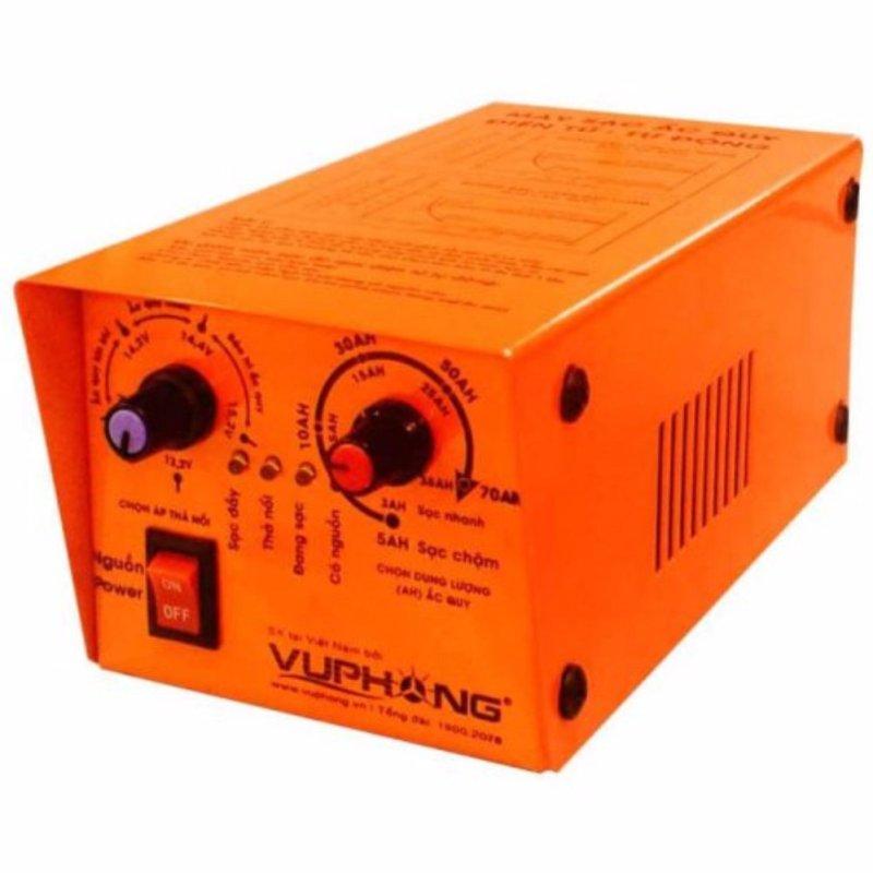 Bảng giá Mua Máy sạc (nạp) ắc quy điện tử - tự động 3 chế độ 3AH->70AH New (Cam)