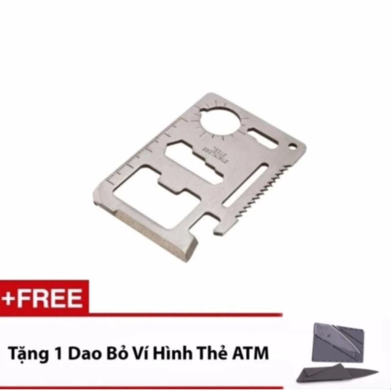Bảng giá Miếng Thép Kĩ Thuật Đa Năng - MBAC (Bạc) + 1 Bộ Dao Bỏ Túi Hình Thẻ ATM