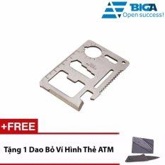 Miếng Thép Kĩ Thuật Đa Năng Usa Store Big-a2302 (Bạc) + 1 Bộ Dao Bỏ Túi Hình Thẻ ATM