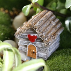 Miniature House Fairy Garden Micro Landscape Home Decoration Resin Grey - intl