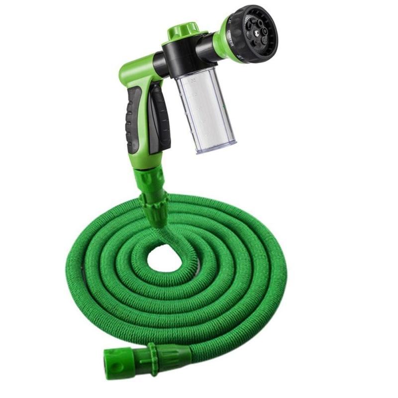 moob Watering CAR WASH Sprinkler With Hose Adjustable Hose Eight Kinds Water Pattern Lengthened Water Pipes-75FT - intl