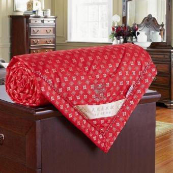 MOON STORE 100% Mulberry Silk Filled Comforter Quilt Duvet CoverletBlanket Doona Yellow for Summer 180*220cm - intl