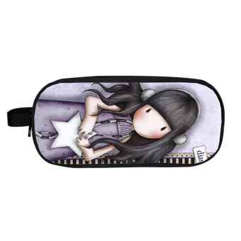 Moonar Girl Cute Pencil Pen Case Cosmetic Bag Purse Organizer Zipper Pouch ( 3 ) - intl