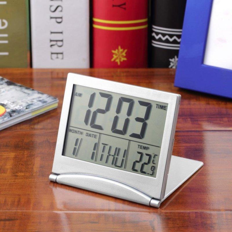 Nơi bán Một Chiếc Đồng Hồ Báo Thức Nhỏ Kỹ Thuật Số LCD Để Bàn, Linh Hoạt Tính Ngày, Giờ, Nhiệt Độ , Có Nhiệt Kế Ở  Bên Cạnh - Quốc Tế