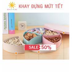 Mứt Dừa Non Dẻo - Mua Khay Mứt Tròn Lúa Mạch 5 Ngăn Bằng Nhựa Hình Hộp Quà Giá Tốt - Ưu Đãi 50% Chỉ Trong Hôm Nay