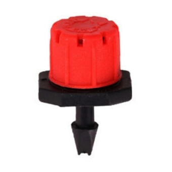 NEGA 100Pcs Adjustable Garden Irrigation Water Dropper Red - intl