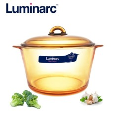 Nồi thủy tinh cao cấp Luminarc Vitro Amberline Granite 5L (Đáy mới chống trượt)