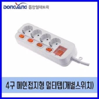 Ổ cắm 16A 4 lỗ 5 công tắc dây 1,5 m Dongyang hàn quốc