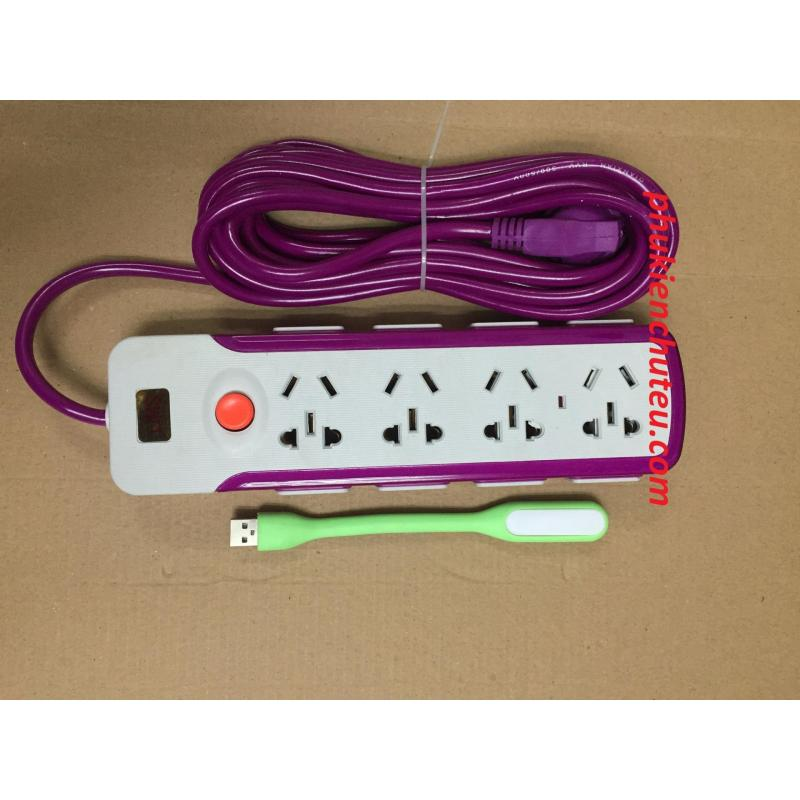 Bảng giá Mua Ổ cắm điện 16 lỗ cắm chống giật  tặng kèm đèn led chiếu sáng