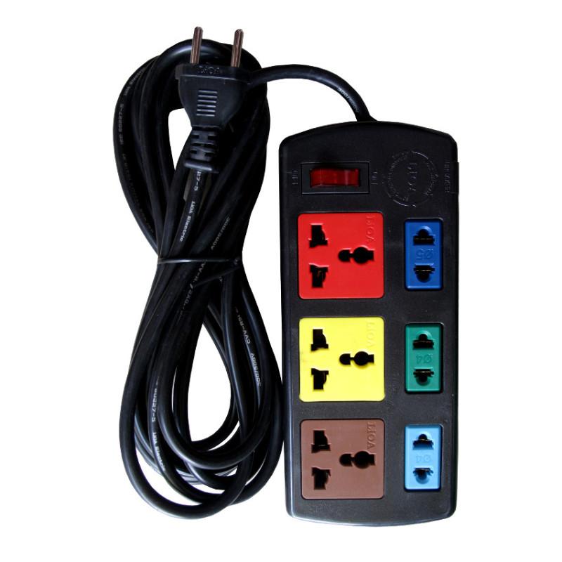 Bảng giá Ổ cắm điện 6 ổ cắm Lioa 3D3S dây 5 mét