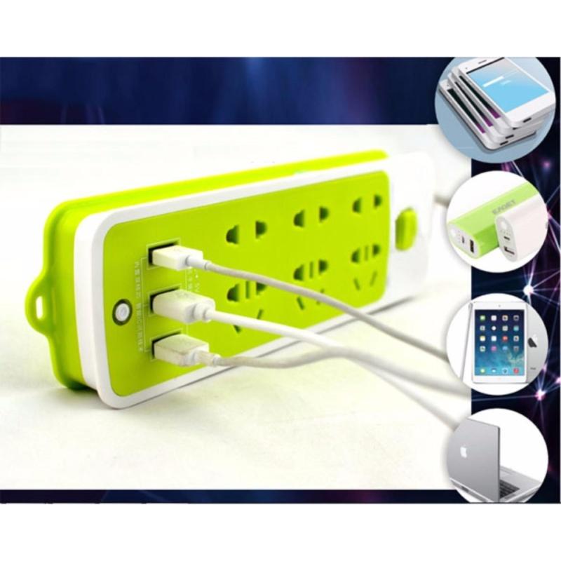 Bảng giá Ổ CẮM ĐIỆN 6 PHÍCH CẮM 3 CỔNG USB + ( tặng kèm 1 BÚT CẢM ỨNG HAI ĐẦU THÔNG MINH)