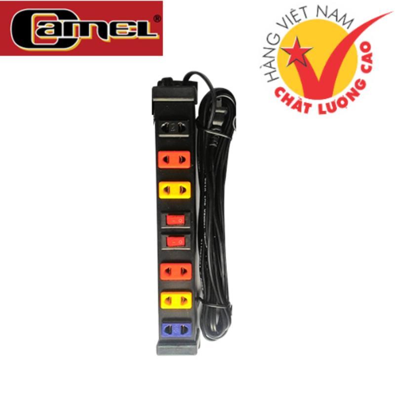 Bảng giá Ổ Cắm điện cao cấp CAMEL 6L2CT - 3M (Đen)