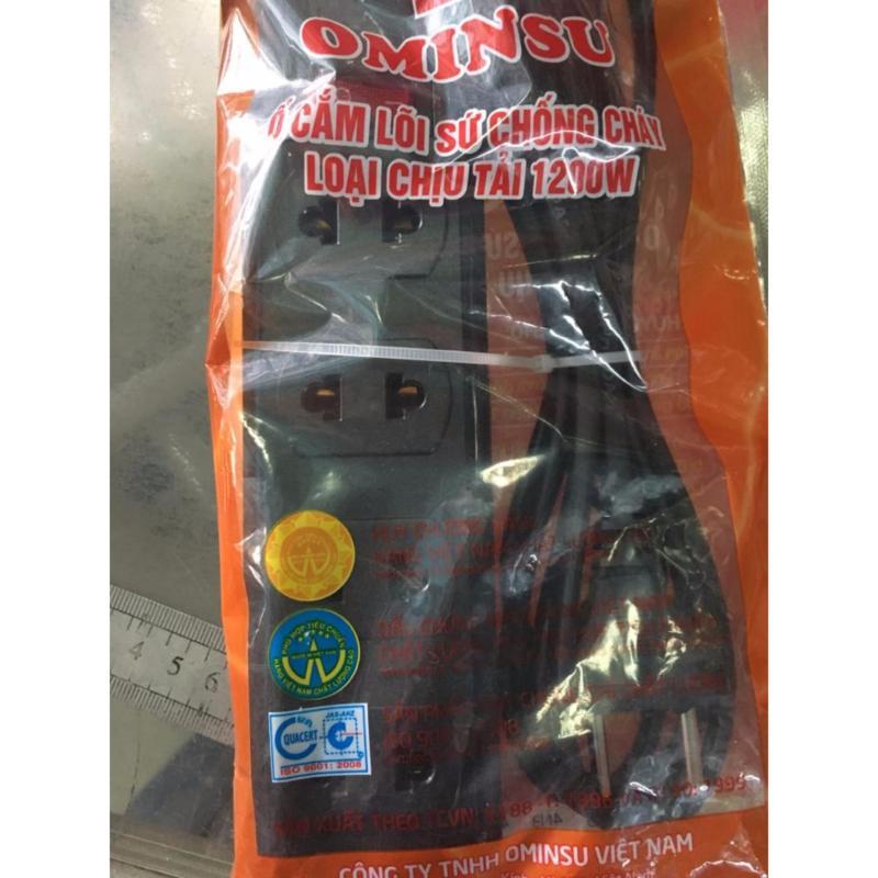 Bảng giá Ổ cắm điện chịu nhiệt cao cấp Ominsu 4 lỗ 1 công tắc 2M5
