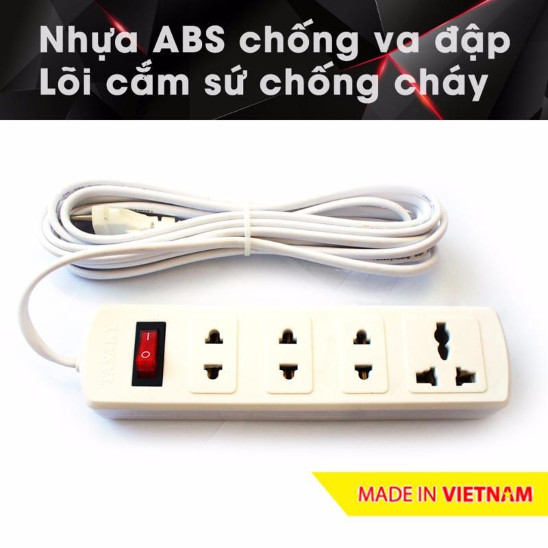 Bảng giá Mua Ổ cắm điện công suất cao chuyên cho bếp điện từ, nhựa ABS, 2.5m 4T3 (Trắng)