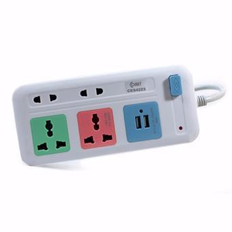 Ổ cắm điện đa năng COMET CES4223 4 lỗ cắm + 2 cổng USB