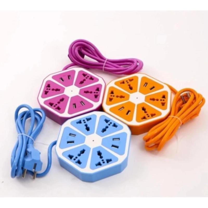 Bảng giá Ổ cắm điện đa năng hình trái cam với 4 cổng USB (Màu cam)