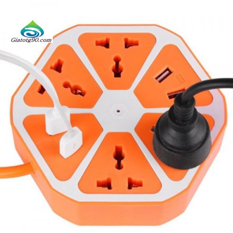 Bảng giá Mua Ổ cắm điện đa năng kiêm 2 Usb BenHome sạc Pin Smartphone 206383