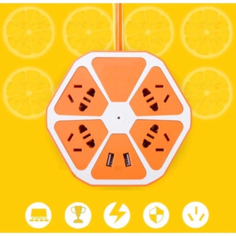 Bảng giá Ổ cắm điện đa năng lục giác có cổng USB (Cam)  297