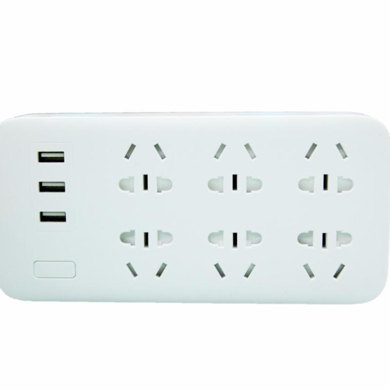 Bảng giá Mua Ổ cắm điện Mi Power Strip hỗ trợ 6 đầu và 3 cồng USB(White)