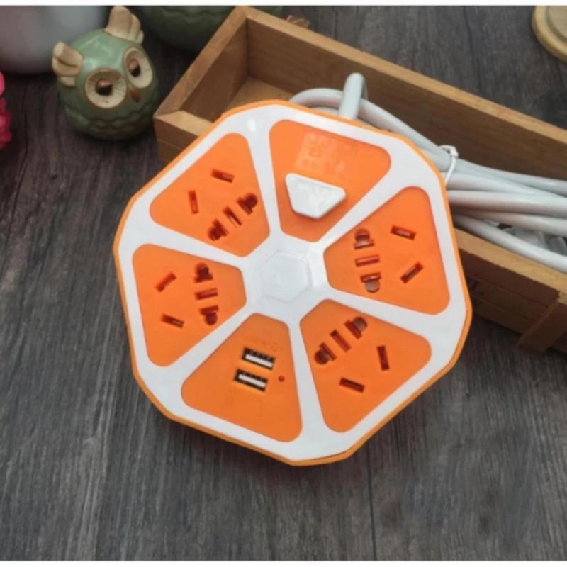 Bảng giá Ổ cắm điện múi cam đa năng(2 cổng USB)