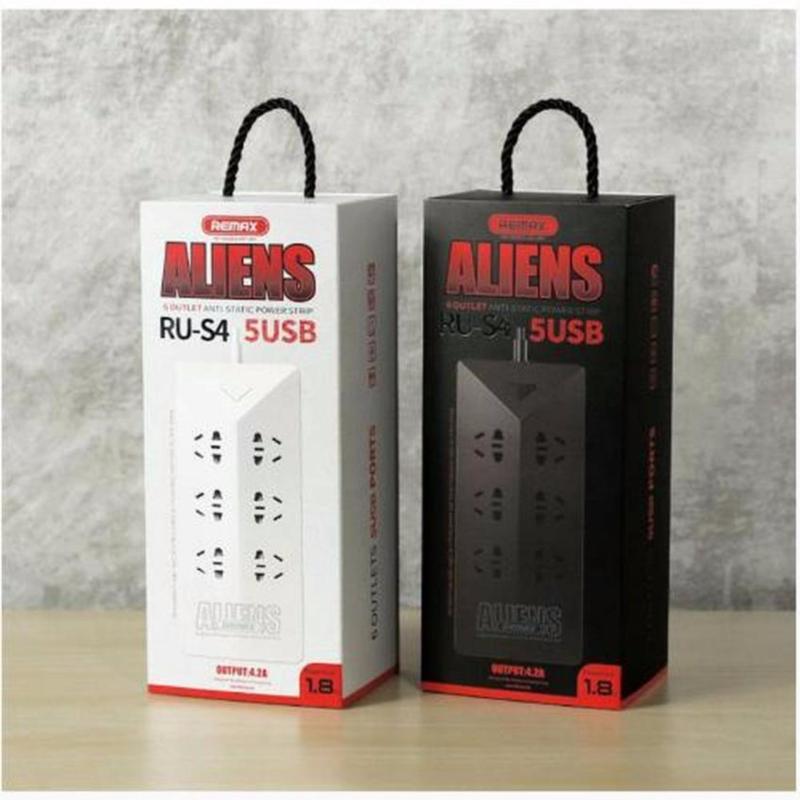 Bảng giá Ổ cắm điện thông minh 6 ổ cắm điện 5 CỔNG USB sạc smartphone, iphone, ipad REMAX RU-S4