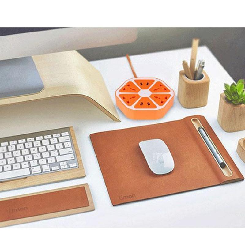 Bảng giá Ổ cắm điện usb đa năng lục giác hình quả cam cam