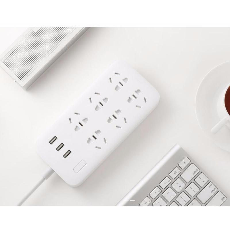 Bảng giá Ổ cắm điện Xiaomi Power Strip hỗ trợ 6 đầu và 3 cồng USB - Màu Trắng